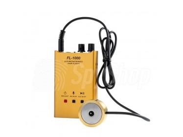 Wand-Lauschstethoskop Stethoskopabhörgerät mit Nadelmikrofon und eingebautem Audiorekorder FL1000 zum hören durch Wände