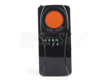 Funkkameras aufspüren mit Hilfe von AUMAS S-26 der eine spezielle Filterlinse und Laserdiode besitzt!