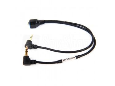 Audiokabel zur Verbindung eines Diktiergeräts mit einem Radioempfänger