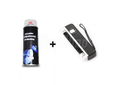 UV-Set zur unsichtbaren Markierung von Gegenständen