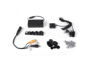 Spionage-Kamera BU-18: Nadelöhr-Mikrokamera mit Mikrofon und Tarnung zur Videoüberwachung